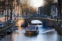 Tour Boat on Reguliersgracht Canal, Amsterdam, Netherlands Stock Photo - Premium Rights-Managednull, Code: 700-03573871
