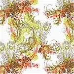 A floral pattern Stock Photo - Premium Royalty-Free, Artist: Christina Krutz, Code: 653-03575251