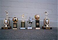 Various sports trophies Stock Photo - Premium Royalty-Freenull, Code: 653-03575259