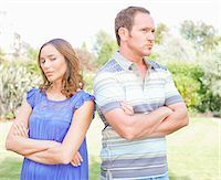 Arguing couple standing outdoors Stock Photo - Premium Royalty-Freenull, Code: 635-03577426