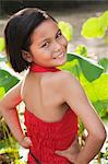 Girl Wearing Red Dress Stock Photo - Premium Rights-Managed, Artist: dk & dennie cody, Code: 700-03586740