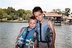 Portrait of Boys Wearing Life Jackets Stock Photo - Premium Royalty-Free, Artist: Mark Peter Drolet, Code: 600-03587106