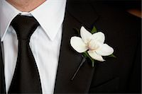 special moment - Close-up of Groom's Boutonniere Stock Photo - Premium Rights-Managednull, Code: 700-03587163