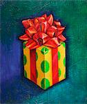 Illustration of Gift Stock Photo - Premium Royalty-Free, Artist: James Wardell, Code: 600-03587203
