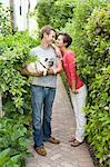 Portrait of Couple With Pug Stock Photo - Premium Rights-Managed, Artist: Raoul Minsart, Code: 700-03596311