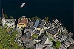 View on Hallstatt town and lake, Austria Stock Photo - Premium Royalty-Free, Artist: Rudy Sulgan              , Code: 621-03596524