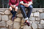 Prep School Students Sitting on Stone Wall Stock Photo - Premium Royalty-Free, Artist: Jerzyworks, Code: 621-03597794