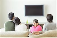 Family Watching TV Stock Photo - Premium Rights-Managednull, Code: 859-03599406