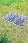 Solar Panel On The Grass Stock Photo - Premium Rights-Managed, Artist: Aflo Relax, Code: 859-03600097
