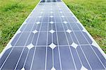 Solar Panels On The Grass Stock Photo - Premium Rights-Managed, Artist: Aflo Relax, Code: 859-03600101