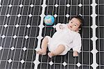 Solar Panel And Baby Stock Photo - Premium Rights-Managed, Artist: Aflo Relax, Code: 859-03600228
