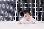 Solar Panel And Baby Stock Photo - Premium Rights-Managed, Artist: Aflo Relax, Code: 859-03600229