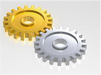 Gold and Silver Gears Stock Photo - Premium Rights-Managednull, Code: 700-03601449