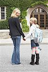 Mother Taking Daughter to School Stock Photo - Premium Rights-Managed, Artist: Jerzyworks, Code: 700-03601492