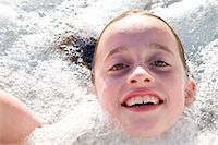 preteen girls bath - Girl in Hot Tub Stock Photo - Premium Rights-Managednull, Code: 822-03601983