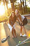 Two Young Women Tennis Court Stock Photo - Premium Rights-Managed, Artist: Ty Milford, Code: 700-03613054