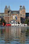 I amsterdam Sculpture and Rijksmuseum, Amsterdam, Netherlands Stock Photo - Premium Rights-Managed, Artist: Jean-Christophe Riou, Code: 700-03615801
