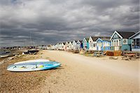 sailing boat storm - Huts at Hengistbury Head Beach, Near Bournemouth, Dorset, England Stock Photo - Premium Rights-Managednull, Code: 700-03616145