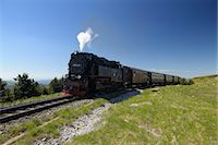steam engine - Brocken Railway, Brocken, Harz National Park, Lower Saxony, Germany Stock Photo - Premium Rights-Managednull, Code: 700-03621118