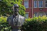 Bust of Robert Kock, Robert Koch House, Clausthal-Zellerfeld, Goslar District, Harz, Lower Saxony, Germany
