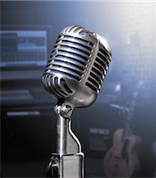 Microphone Stock Photo - Premium Rights-Managed, Artist: Philip Rostron, Code: 700-03621323