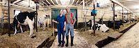Portrait of Farmers in Barn, Ontario, Canada Stock Photo - Premium Rights-Managednull, Code: 700-03621426