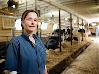Portrait of Farmer in Barn, Ontario, Canada Stock Photo - Premium Rights-Managednull, Code: 700-03621431