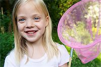Girl with a butterfly net Stock Photo - Premium Royalty-Freenull, Code: 649-03621909