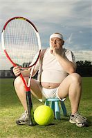 fat man balls - Large tennis player portrait Stock Photo - Premium Royalty-Freenull, Code: 649-03622520