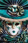 Close-up of Carnival Mask, Venice, Veneto, Italy