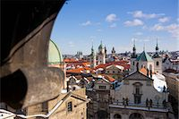 small town snow - Old Town View From Charles Brige, Prague, Czech Republic Stock Photo - Premium Rights-Managednull, Code: 700-03622833
