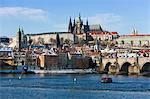 Prague Castle, Saint Vitus Cathedral, View From Charles Brige, Prague, Czech Republic Stock Photo - Premium Rights-Managed, Artist: Marco Cristofori, Code: 700-03622842