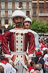 Giants of Pamplona Procession, Fiesta of San Fermin, Pamplona, Navarre, Spain Stock Photo - Premium Rights-Managed, Artist: Marco Cristofori, Code: 700-03622869