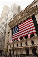 stock exchange building - New York Stock Exchange on July 4th, Wall Street, Manhattan, New York City, New York, USA Stock Photo - Premium Rights-Managednull, Code: 700-03622912