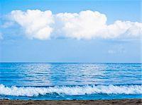 waves beneath clouds Stock Photo - Premium Royalty-Freenull, Code: 673-03623186