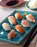 Sushis Stock Photo - Premium Rights-Managed, Artist: Photocuisine, Code: 825-03626888
