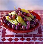 Peppers and olives Stock Photo - Premium Rights-Managed, Artist: Photocuisine, Code: 825-03626934