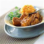 Pork colombo with sweet potato purée Stock Photo - Premium Rights-Managed, Artist: Photocuisine, Code: 825-03627024
