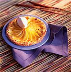 Mango tart with tea-flavored ice cream Stock Photo - Premium Rights-Managed, Artist: Photocuisine, Code: 825-03627133