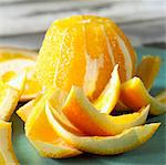 Peeled orange and peel Stock Photo - Premium Rights-Managed, Artist: Photocuisine, Code: 825-03627265
