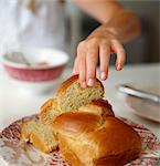Hand and brioche Stock Photo - Premium Rights-Managed, Artist: Photocuisine, Code: 825-03627283