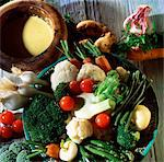 Aioli garlic and olive oil sauce with spring vegetables Stock Photo - Premium Rights-Managed, Artist: Photocuisine, Code: 825-03627306