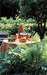 Summer table setting outdoors Stock Photo - Premium Rights-Managed, Artist: Photocuisine, Code: 825-03627620