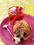 Bilberry muffin Stock Photo - Premium Rights-Managed, Artist: Photocuisine, Code: 825-03627871