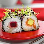 Vegeterian makis Stock Photo - Premium Rights-Managed, Artist: Photocuisine, Code: 825-03627915