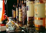 Shelf with bottles of alcohol in a bar Stock Photo - Premium Rights-Managed, Artist: Photocuisine, Code: 825-03628020