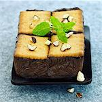 Chocolate and biscuit terrine Stock Photo - Premium Rights-Managed, Artist: Photocuisine, Code: 825-03628346
