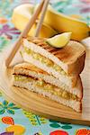 Banana and lime toasted sandwich Stock Photo - Premium Rights-Managed, Artist: Photocuisine, Code: 825-03628427
