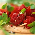 Raw beef brochettes Stock Photo - Premium Rights-Managed, Artist: Photocuisine, Code: 825-03628694