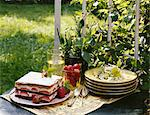 Meal on a table outdoors Stock Photo - Premium Rights-Managed, Artist: Photocuisine, Code: 825-03628778